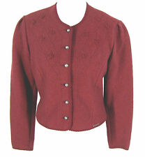 Geiger Jacket Womens Boiled Wool Austria Red Cropped Blazer Tag Sz 40 Fits 6 / 8