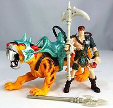 Whitefang armored Sabretooth tiger Chap Mei Beast Raider Battlecat MOTU W/Figure