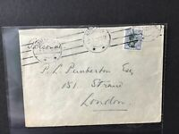 Denmark 1921 to England   multi stamps cover Ref R28317