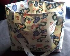 "Tote Bag Handmade ""I Love Country"" Fabric NEW! Pockets Shopping Sewing Child"