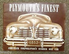 PLYMOUTH FINEST 1941 Car Auto Woody original Sales Brochure Catalog  24 pages