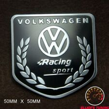 VOLKSWAGEN RACING SPORT BADGE EMBLEM  VW GOLF blk GTI VR6 R32 MK 2 3 4 R LINE