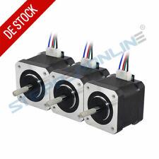 3PCS Schrittmotor Nema 17 Stepper Motor 45Ncm 1,5 A 4 Draht für 3D Drucker DIY