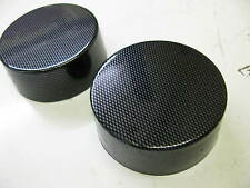 PEUGEOT 206 1998 2006 SUSPENSION STRUT TOP MOUNT COVER CAPS CARBON FIBER ABS
