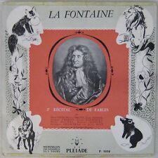 La Fontaine 33 tours 25 cm 2ème récital Seigner Charon Casadeus Manuel Chamarat