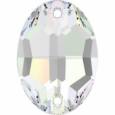 SWAROVSKI 3210 Sew On FlatBack OVAL Crystal 16x11 mm 2 pc