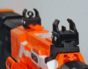 3D Printed Solid Bolt-On Trans Iron Sights for Nerf Dart Gun Blaster