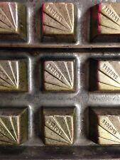 Antique Chocolate Candy Mold Commercial Chocolatier Metal Rare Bon Bon Holland