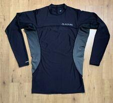 Dakine Wrath Snug Fit Rash Guard Shirt Long Sleeve Adult 2XL Black Gray UPF50
