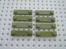 Lego 8 x Fliese 1x4 mit 2 Noppen oben 92593  oliv grün