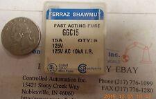 Ferraz Shawmut GGC15 Fuse/Fuses, Box of 5