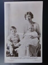 Royalty H.R.H. PRINCESS MARY Viscountess Lascelles & Children c1925 by J.Beagles