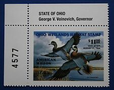 U.S. (Oh16) 1997 Ohio State Duck Stamp (Mnh) upper left plate # single
