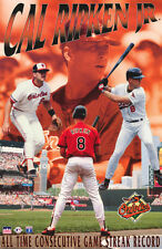 POSTER: MLB BASEBALL: CAL RIPKEN , JR - ALL TIME CONSECUTIVE GAME RECORD - RW1 S
