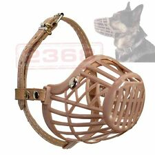 Plastic Pet dog Adjustable Basket  Protection Mask Mouth Cage Small