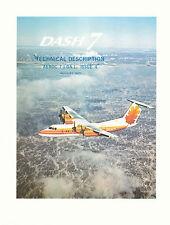 """DE HAVILLAND CANADA DHC-7 """"DASH 7"""" QUIET STOL AIRLINER / TECHNICAL DESCRIPTION"""