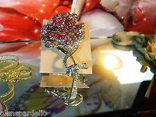Kirks Folly flower Romantic Rose Pin (Silver brooch necklace free ship
