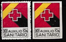ESPAÑA - GUERRA CIVIL - CADIZ - AUXILIO SANITARIO - EDIFIL 103-103s