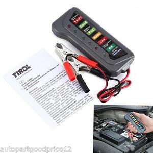 12V Digital Battery Alternator Tester 6LED Display Check Test For Car Motorcycle