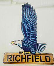 "22"" Richfield gas oil company station Usa steel metal american Eagle Ad sign"