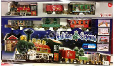 Holiday express train set avec feux, motion carriages station decor