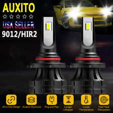 AUXITO 9012 HIR2 LED Headlight Kit White Bulbs 20000LM 140W High Low Beam 12V 6K