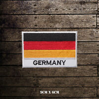 Germany National Flag With Name Embroidered Iron On Sew On Patch Badge