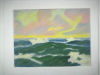 Acrylic Painting Seascape Sea Unframed 12 x 16 Inch Abstract Canvas Board Green