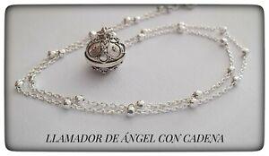 LLAMADOR DE ANGEL PLATA AMULETO PROTECCION Silver 925 Sterling CALLER ANGEL