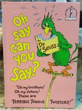 Oh say can you say? by Dr. Seuss 1979 Hardcover