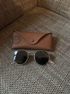 Ray Ban Round Metal Retro Sonnenbrille - Silber