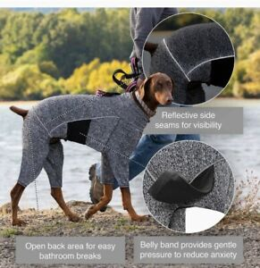 Kurgo Stowe Base Layer for Dog, Large,Gray, PJ'S,Extra warmth layer,contain fur