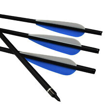 "12X 22"" Crossbow Bolts Roll Fiber Glass Arrows Archery Bow Hunting Outdoor"