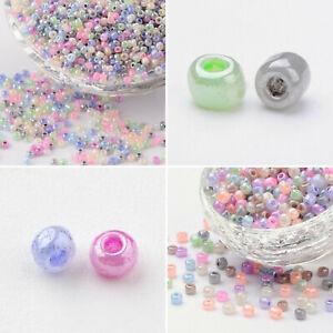 Perlen 2mm 3mm 4mm pastell mix Glasperlen Rocailles Peyote basteln DIY Tiere