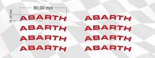 x8 Fiat ABARTH Rims Alloy Wheels Curved Decals Stickers 500 Punto 124 Spider