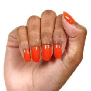9L3GoColorStreet HIGH VOLTAGE Nail Strips NEW Neon Orange LIMITED **+TWOSIE*