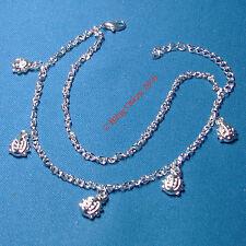 Girls Silver Tone Ladybird Lady Bird Charm Bug Anklet Chain Ankle Bracelet Gift