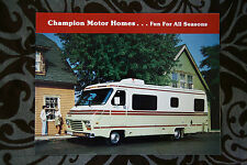 CHAMPION Motorhome Camper brochure sales catalog - English