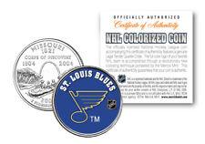 ST. LOUIS BLUES NHL Hockey Missouri Statehood Quarter US Colorized Coin LICENSED