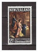12229) New Zealand MNH New 1969 Christmas (Flowers Painting) 1v