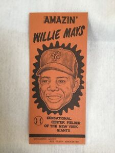 "Rare 1950s ""Amazin' Willie Mays"" Promotional Advertising Pamphlet from his Agent"