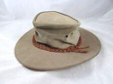 Australian Leather Bush Hat Pakflat Size Small Bakpaka Crocodile Dundee Style