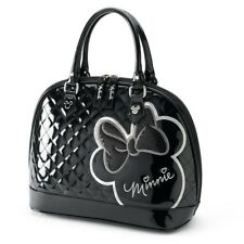 Loungefly Disney Minnie Mouse Black White Silhouette Purse Bowler Dome Hand Bag