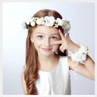 Rose Flower Headband Garland Hair Band Crown Wreath Festival Boho Hippy Beach UK