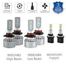 6x For Pontiac	Bonneville 1992-2003 9005 9006 880 Headlight & Foglight LED Bulbs