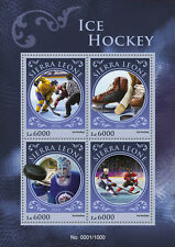 Sierra Leone 2016 MNH Ice Hockey 4v M/S Sports Stamps