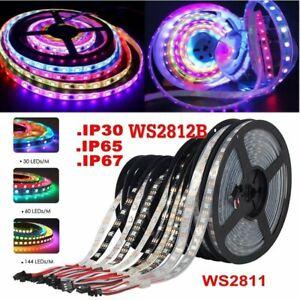 5M 12V WS2811 / 5V WS2812B Dream Color RGB Strip Light  IC Individual Addressabl