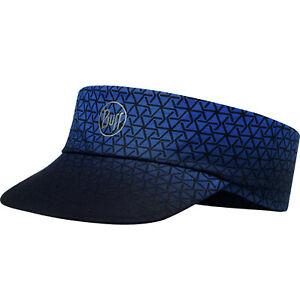 Buff Reflective Equilateral Packable Running Adjustable Visor Cap Hat - Blue