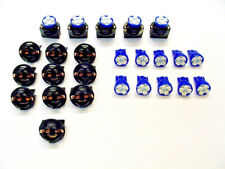 "15 Blue 4 LEDs Light Bulbs 1/2"" Sockets License Plate Dashboard Marker Mopar"