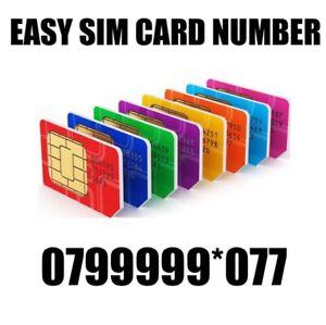 GOLD EASY VIP MEMORABLE MOBILE PHONE NUMBER DIAMOND PLATINUM SIMCARD 07999